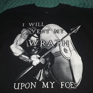 "GAME OF THRONES black XL ""vent my wrath"" t shirt"